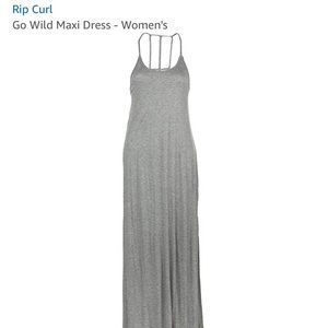 RIP CURL gray maxi dress. NEW WITH TAGS!